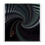 Dark Spiral Tile Coaster