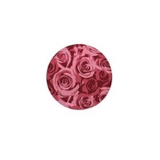 Pink Roses Mini Button
