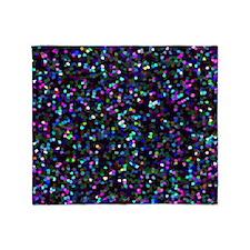 Glitter Graphic Background Throw Blanket