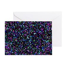 Glitter Graphic Background Greeting Card