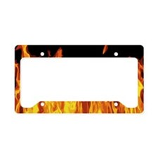 Flames License Plate Holder