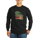 Leafed Long Sleeve Dark T-Shirt