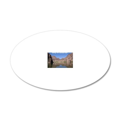 Kaibab Suspension Bridge 20x12 Oval Wall Decal