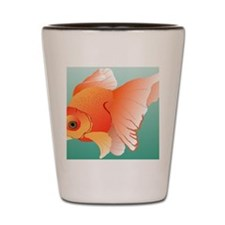 Goldfish Illustration Shot Glass