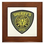 Washoe County Sheriff Framed Tile