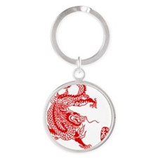 Asian Dragon Round Keychain