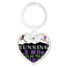 RUNNING IS SO GANGSTA 10K Heart Keychain