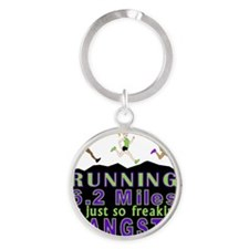 RUNNING IS SO GANGSTA 10K Round Keychain