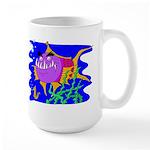 Cartoon Pirahna Large Mug