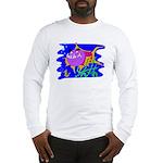 Cartoon Pirahna Long Sleeve T-Shirt