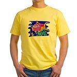 Cartoon Pirahna Yellow T-Shirt
