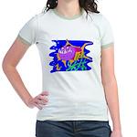 Cartoon Pirahna Jr. Ringer T-Shirt