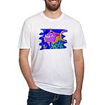 Cartoon Pirahna Fitted T-Shirt