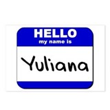 hello my name is yuliana  Postcards (Package of 8)