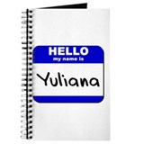 hello my name is yuliana Journal