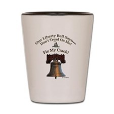 Our Liberty Bell Logo for Light Backgro Shot Glass