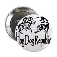 "Hog Dog Republic Logo 2.25"" Button"