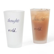 Change Your Thoughts (Dark) Drinking Glass