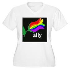 button ally flowe T-Shirt