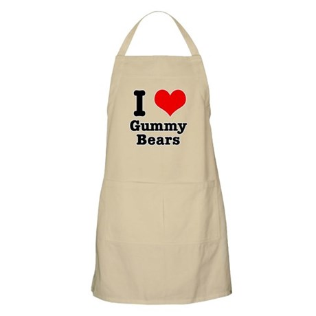 I Heart (Love) Gummy Bears BBQ Apron