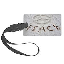 Peace Symbol Luggage Tag