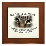 Los ojos de un animal... Framed Tile