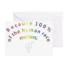 Rainbow Arc Dart Shirts Greeting Card