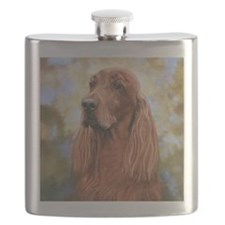 Irish Setter by Dawn Secord Flask