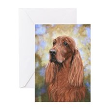 Irish Setter by Dawn Secord Greeting Card