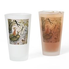Vintage Woman Fairy Butterfly Drinking Glass
