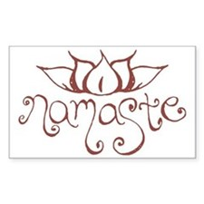 Namaste Lotus Flower Decal