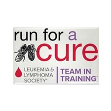 Run for a cure Leukemia and Lymph Rectangle Magnet