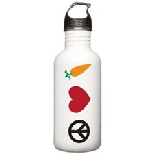 Peace Love Carrots Water Bottle