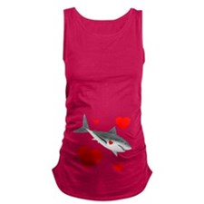 Valentine Shark Maternity Tank Top