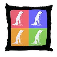 Pop Penguins Throw Pillow