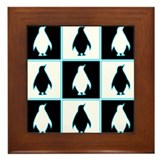 Penguin Pattern Framed Tile