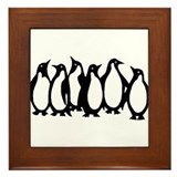 6 Penguins Framed Tile