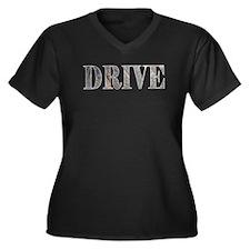 Drive  Women's Plus Size V-Neck Dark T-Shirt