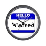 hello my name is winfred  Wall Clock