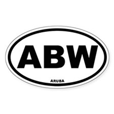 Aruba Oval Decal