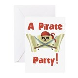 Pirate Birthday Party Invitations (Pk of 10)