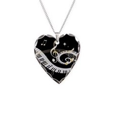 musical notes 45 Necklace Heart Charm