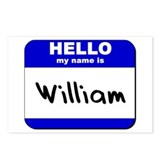 hello my name is william  Postcards (Package of 8)