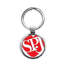 Red SPJ Love Round Keychain