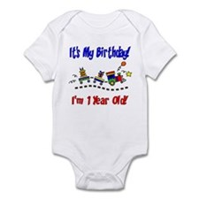 Train 1st Birthday Infant Bodysuit