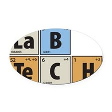 Lab Tech Oval Car Magnet