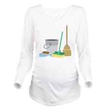 Cleaning Supplies Long Sleeve Maternity T-Shirt