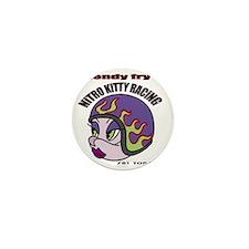 Nitro Kitty White T-Shirt Mini Button
