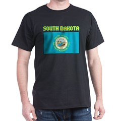 South Dakota Flag Dark T-Shirt