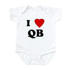 I Love QB Infant Bodysuit